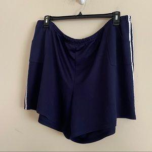 ESSENTIALS flat knit double stripe sides shorts 3X